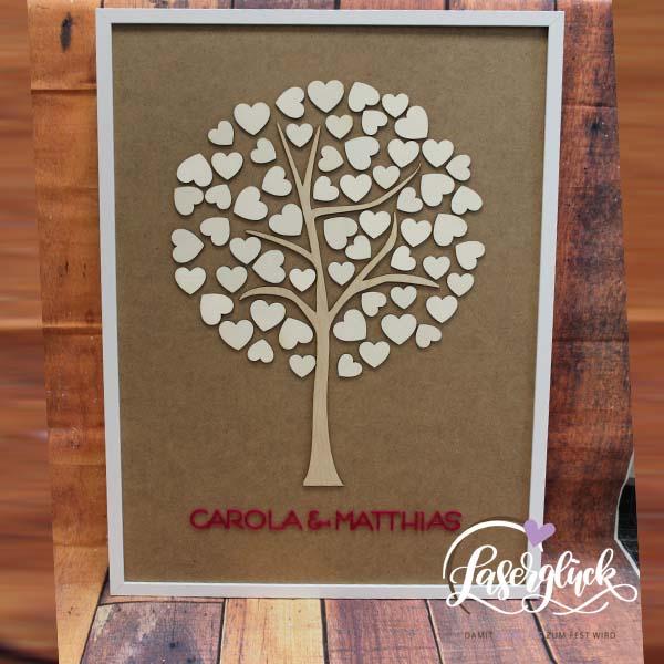 Herzgästebaum im Rahmen
