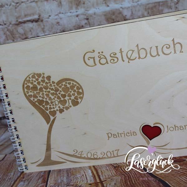 Gästebuch mit Herzbaum