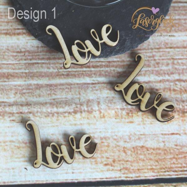 Holzschrift Love
