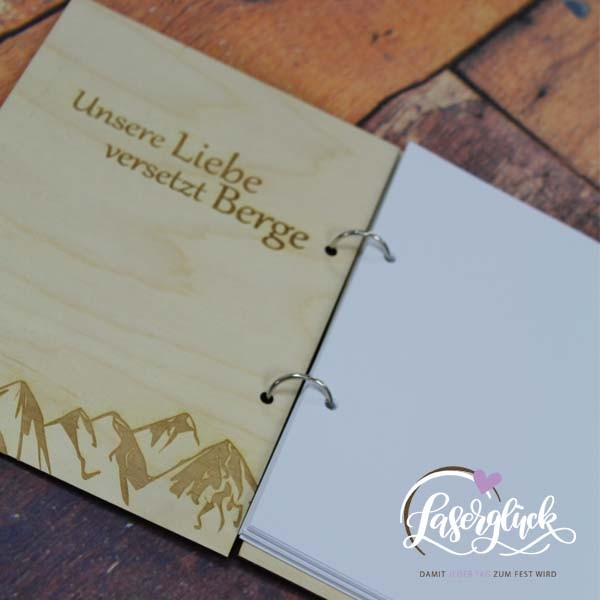 Gipfelbuch mit Holzcover