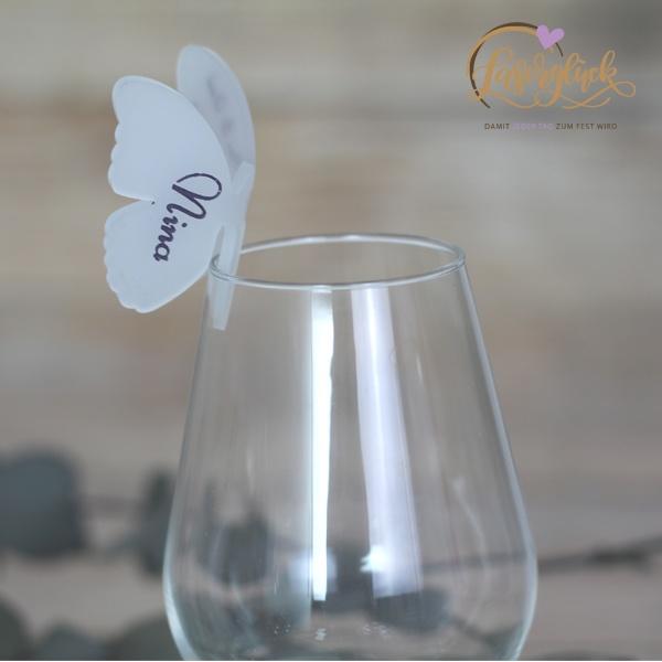 3D Schmetterling fürs Glas