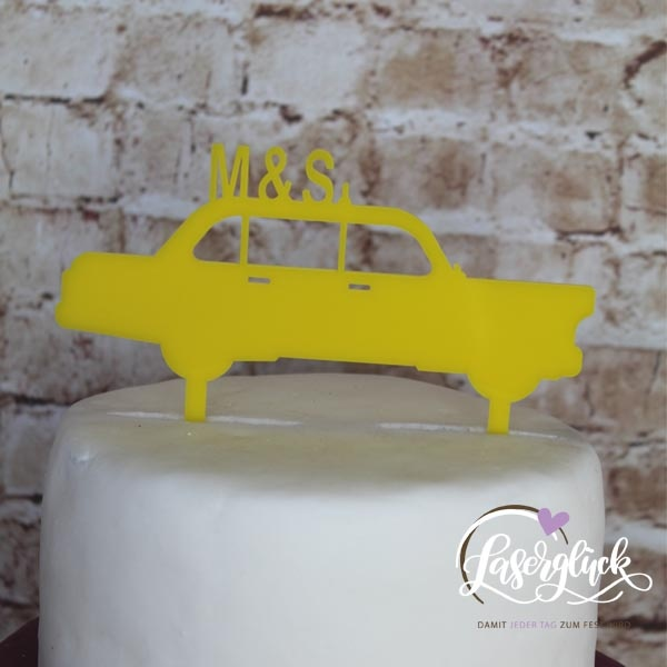 Cake Topper Taxi Gelb
