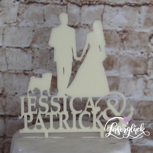 1053-Caketopper-Acrylnormal-creme-Jessica&Patrick
