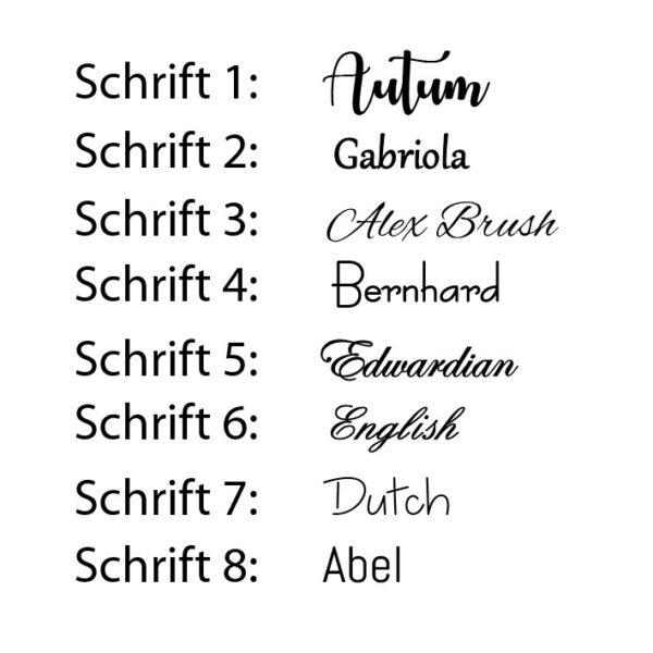 Schriftarten Streudeko