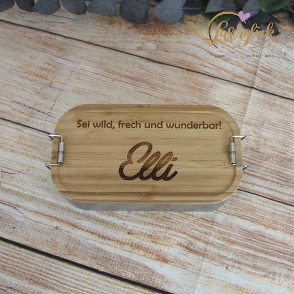 Lunchbox Sei wild frech und wunderbar